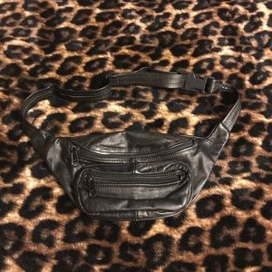 Handbags - Small Black Leather Fanny Pack
